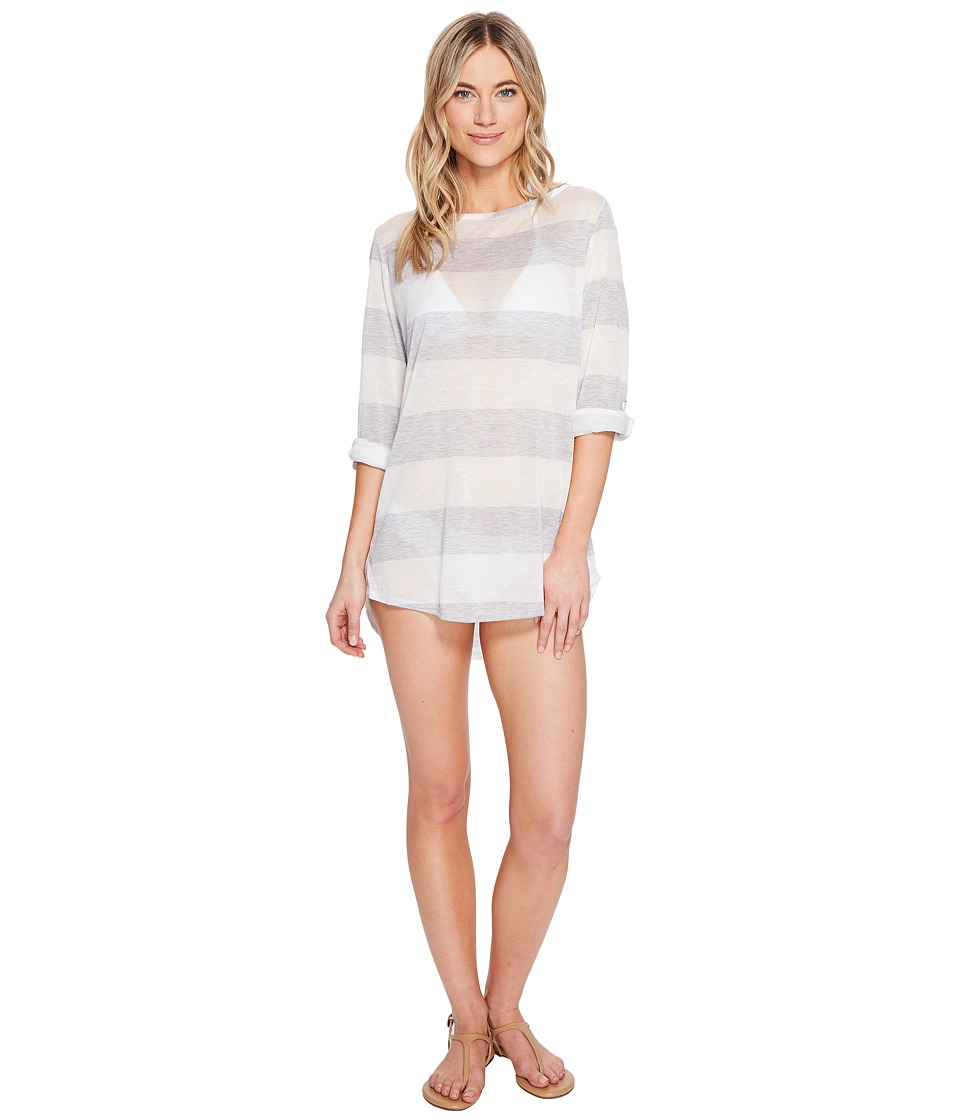 Splendid Homespun Tunic Cover-Up Grey Swimwear