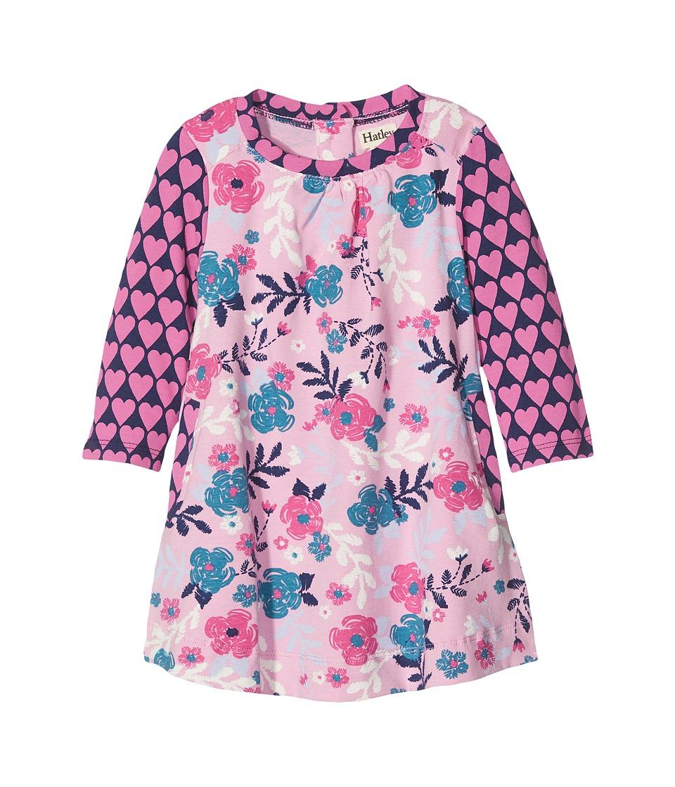 Hatley Kids Wintery Blooms Mini Swing Dress (Infant) (Pink) Girl