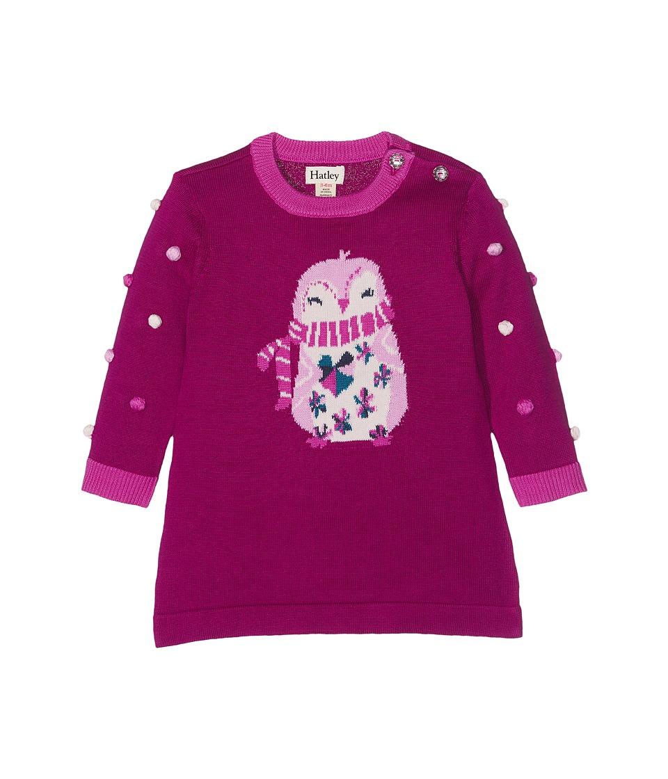Hatley Kids Cozy Penguin Mini Sweater Dress (Infant) (Red) Girl
