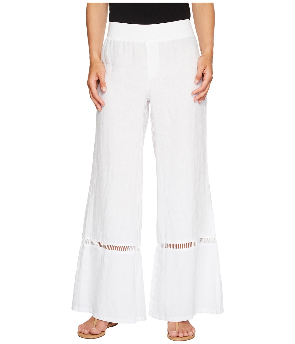 XCVI - Linen Hermes Pants (White) Women's Casual Pants