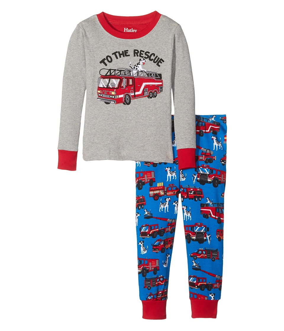 Hatley Kids - To The Rescue PJ Set (Toddler/Little Kids/Big Kids) (Gray) Boy's Pajama Sets