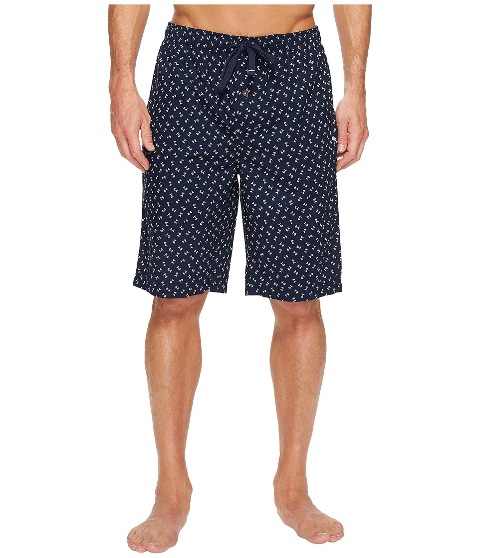 Tommy Bahama - Printed Island Washed Cotton Woven Jam Shorts (Palm Trees) Men's Pajama