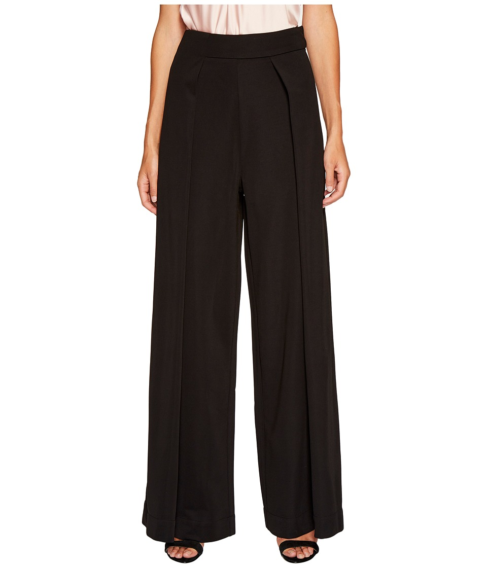 Bishop + Young - Double Layer High-Waisted Pants (Black) Women's Clothing