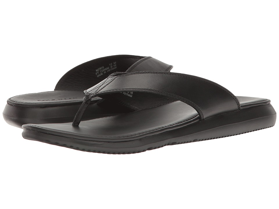 Cole Haan Bristol Leather Sandal (Black Leather) Men