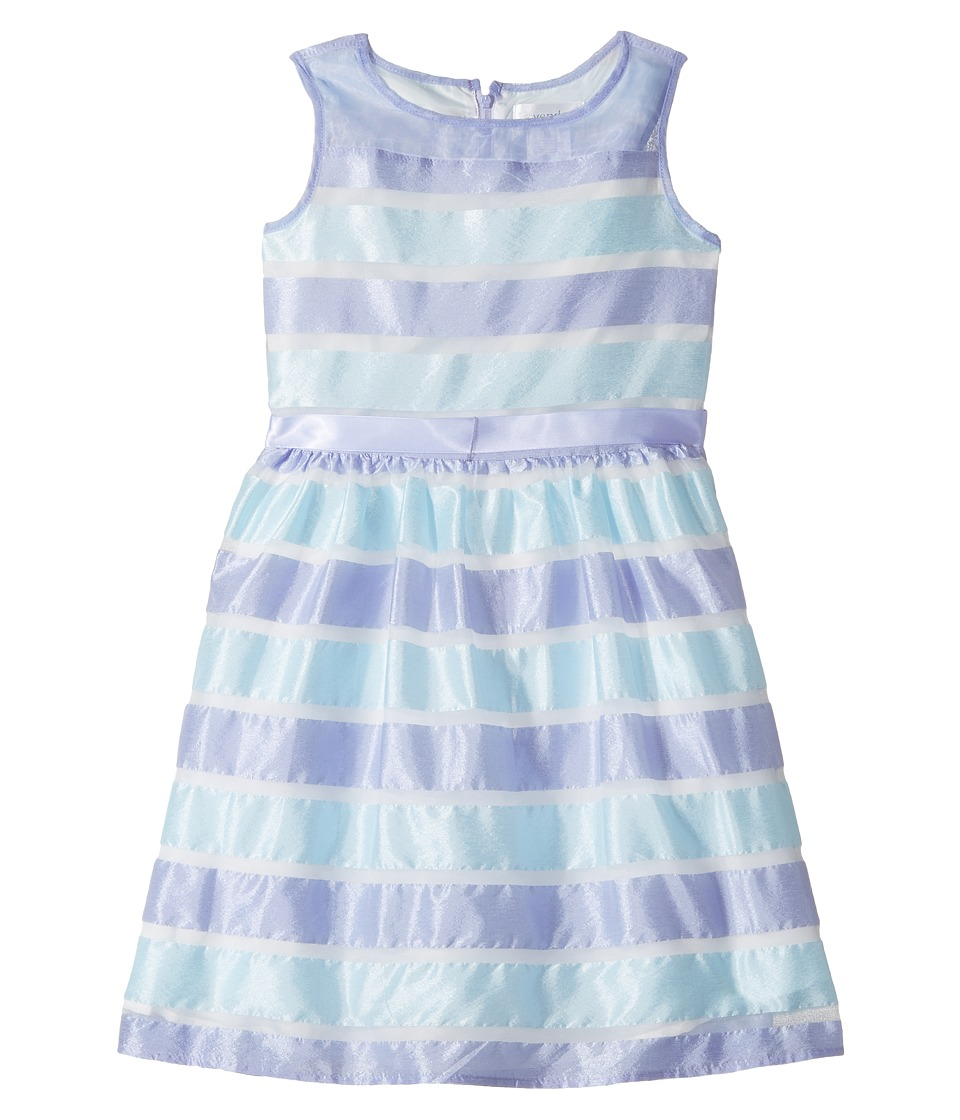 Us Angels - Sleeveless Illusion Dress with Shirred Waist Full Skirt (Big Kids) (Orchid) Girl's Dress
