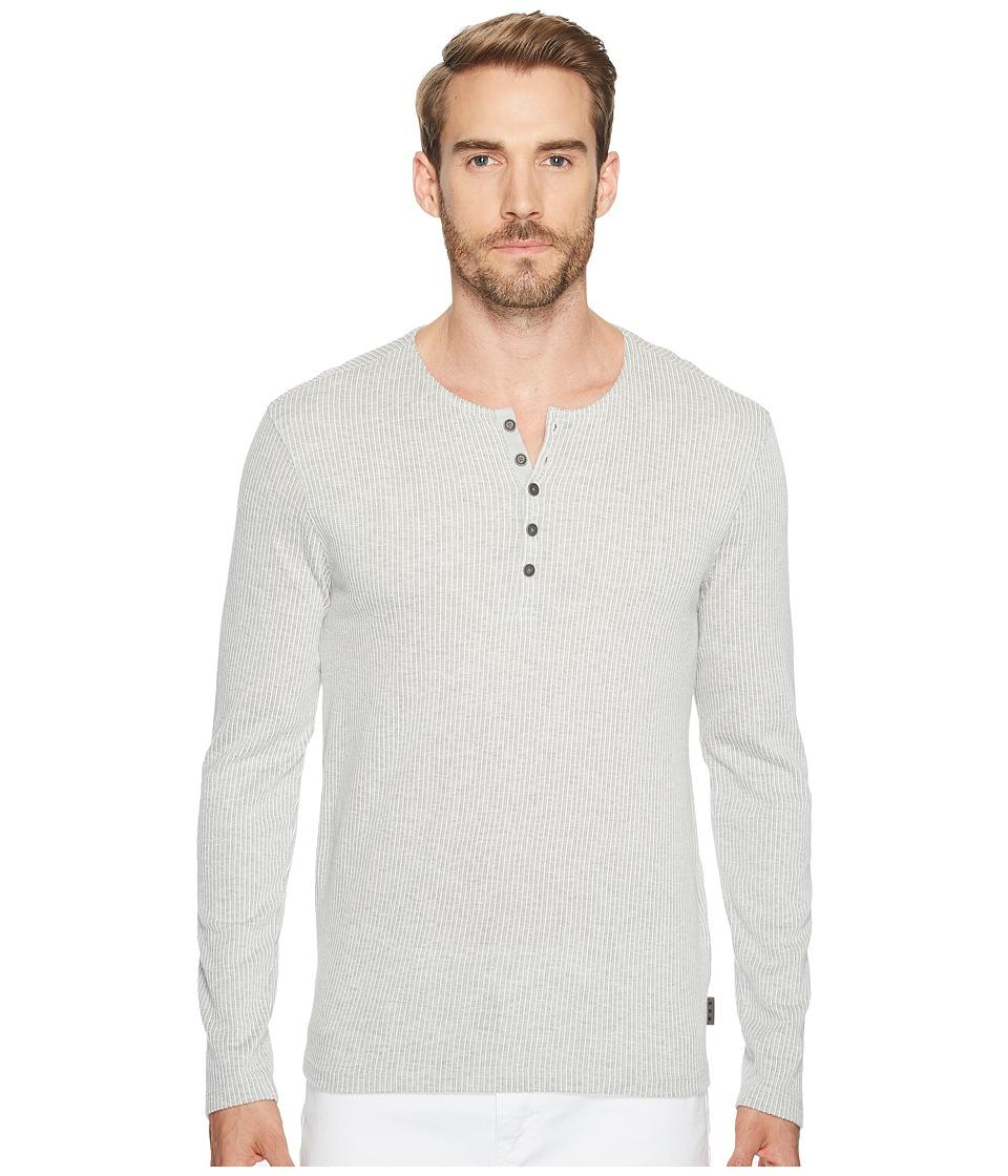 John Varvatos Star U.S.A. - Long Sleeve Henley w/ Neck Facing K3119T2B (Ash) Men's Clothing
