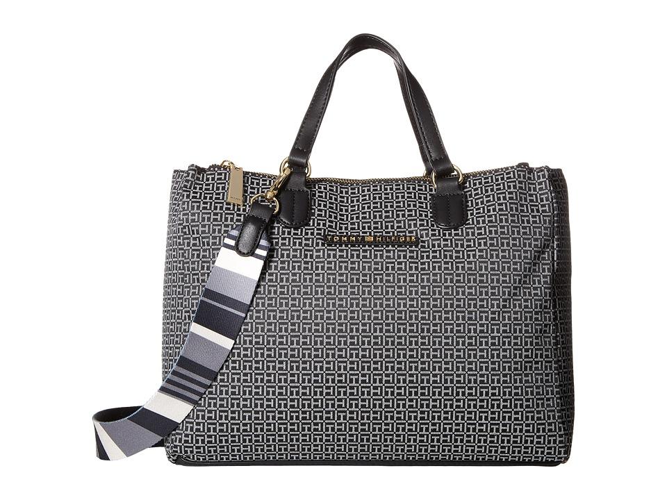 Tommy Hilfiger - Pauletta Convertible Shopper Mini (Black/White) Handbags