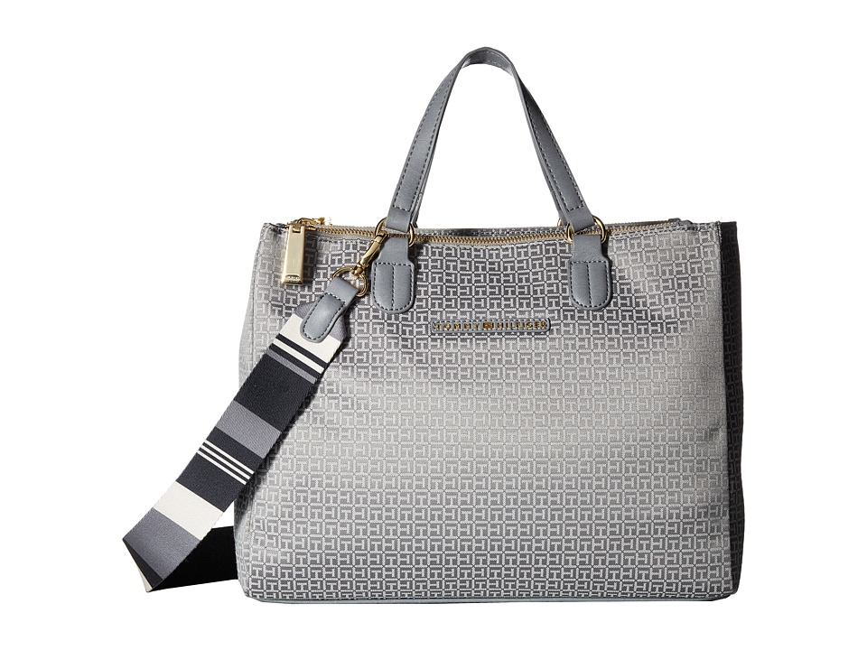 Tommy Hilfiger - Pauletta Convertible Shopper Mini (Gray/Tonal) Handbags