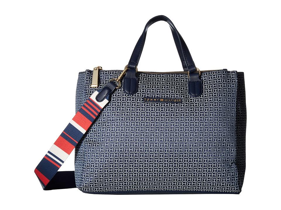 Tommy Hilfiger - Pauletta Convertible Shopper Mini (Navy/White) Handbags