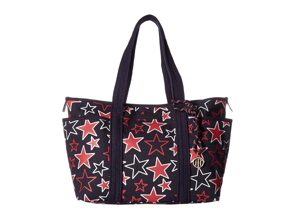 Tommy Hilfiger - Dariana Tote Stars (Navy/Red) Tote Handbags