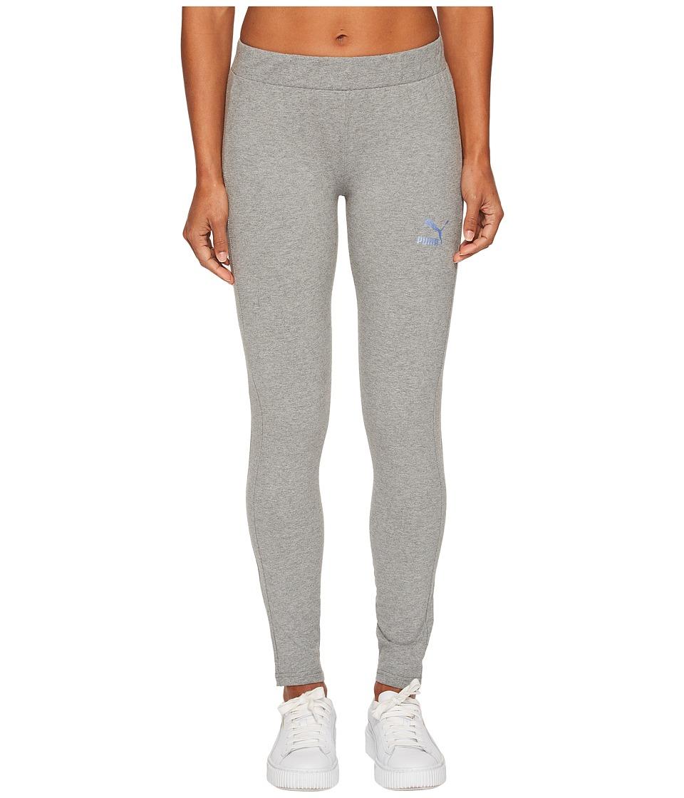 PUMA Glam Leggings (Medium Grey Heather) Women