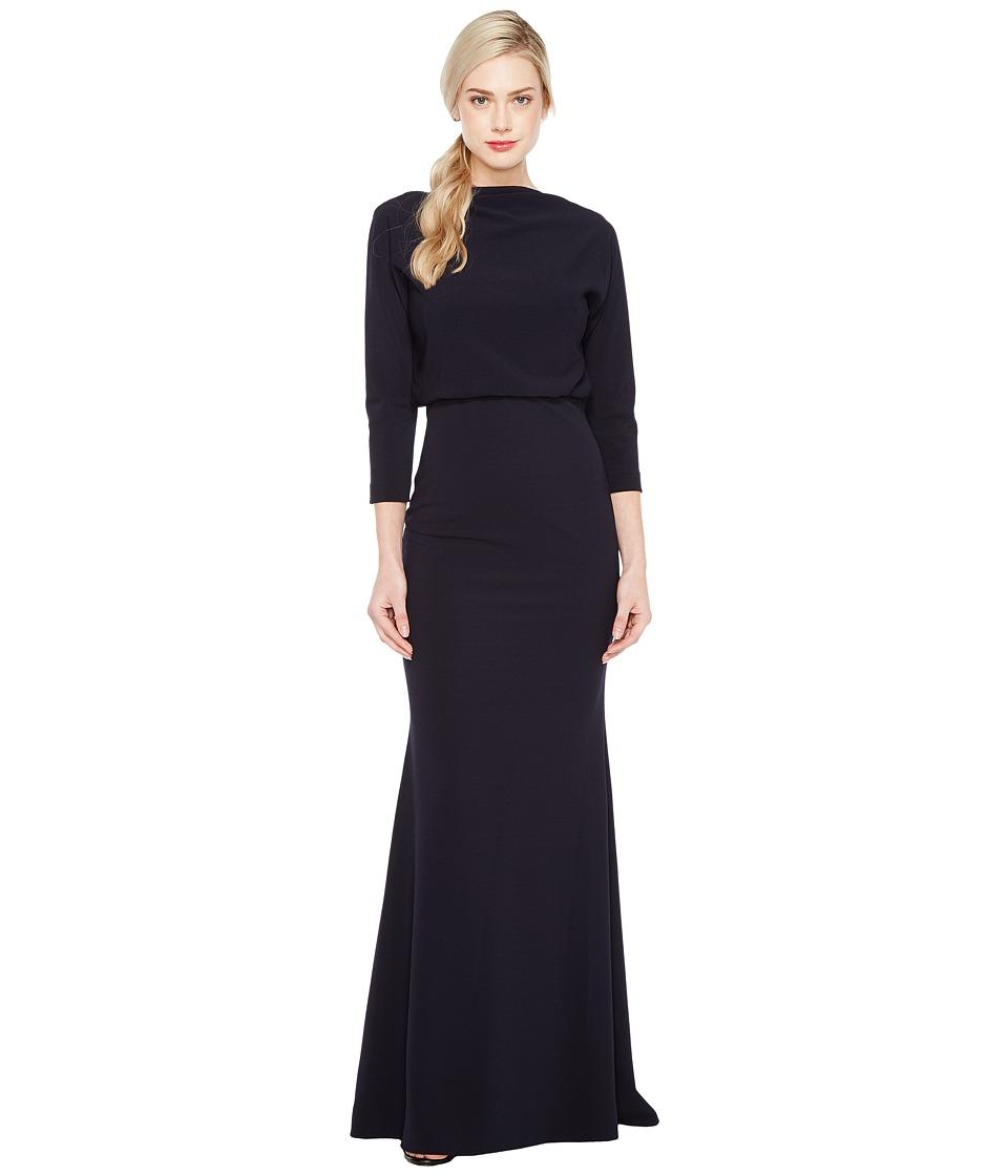 Badgley Mischka It Dress Blouson Gown (Navy) Women