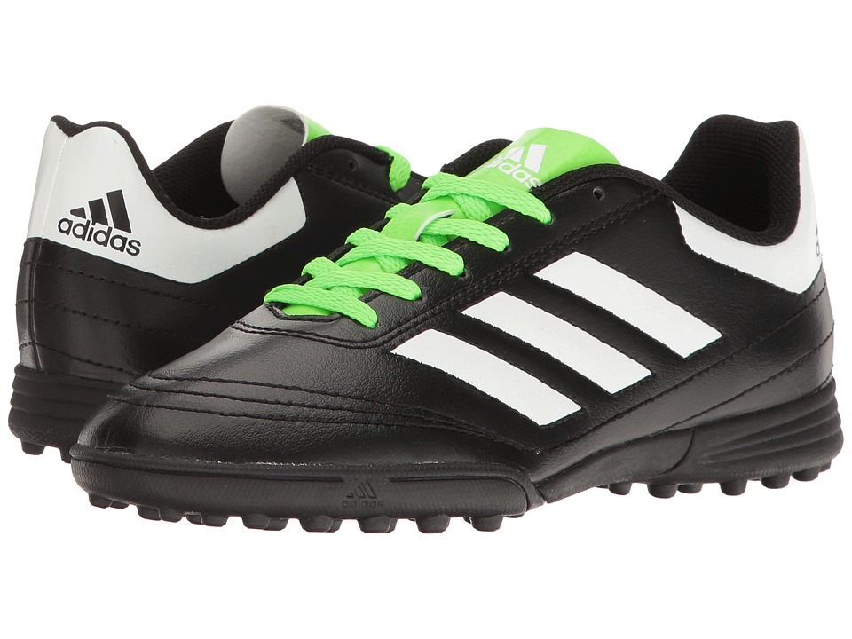 adidas Kids - Goletto VI TF (Little Kid/Big Kid) (Black/White/Green) Kids Shoes
