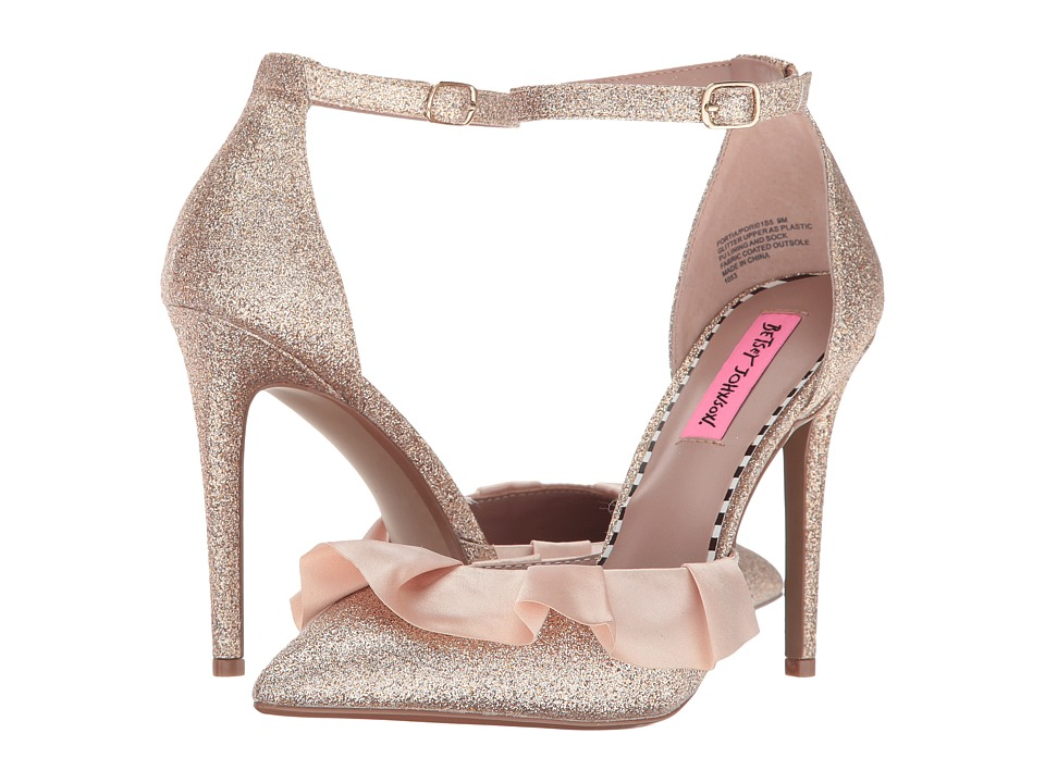 Betsey Johnson Portia (Champagne Glitter) High Heels