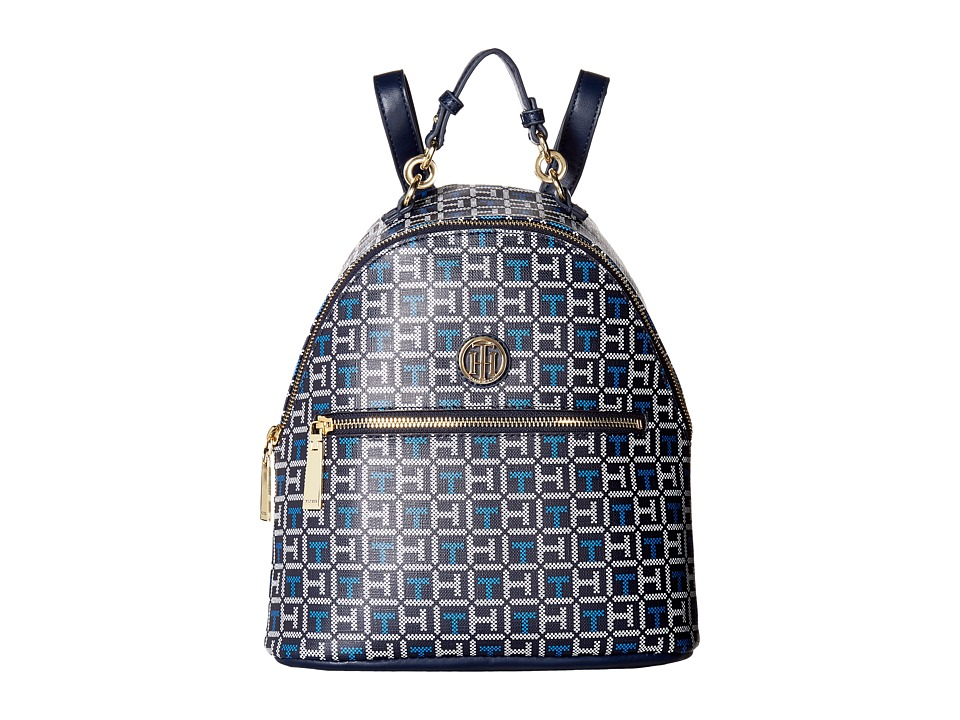 Tommy Hilfiger - Isabella Dome Backpack (Navy/White) Backpack Bags