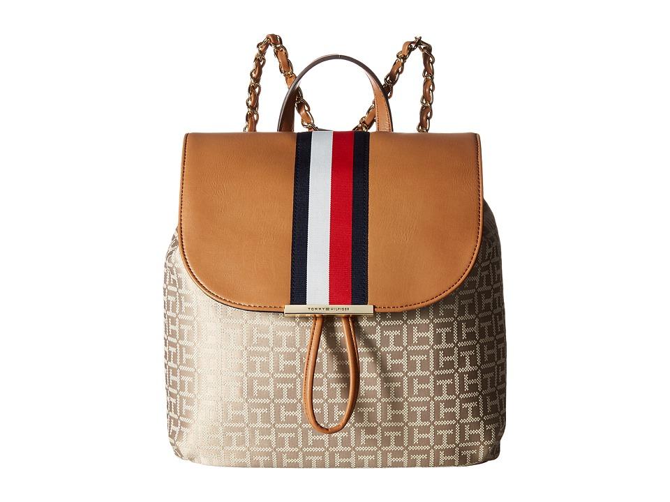 Tommy Hilfiger - Petra Backpack (Khaki Tonal) Backpack Bags