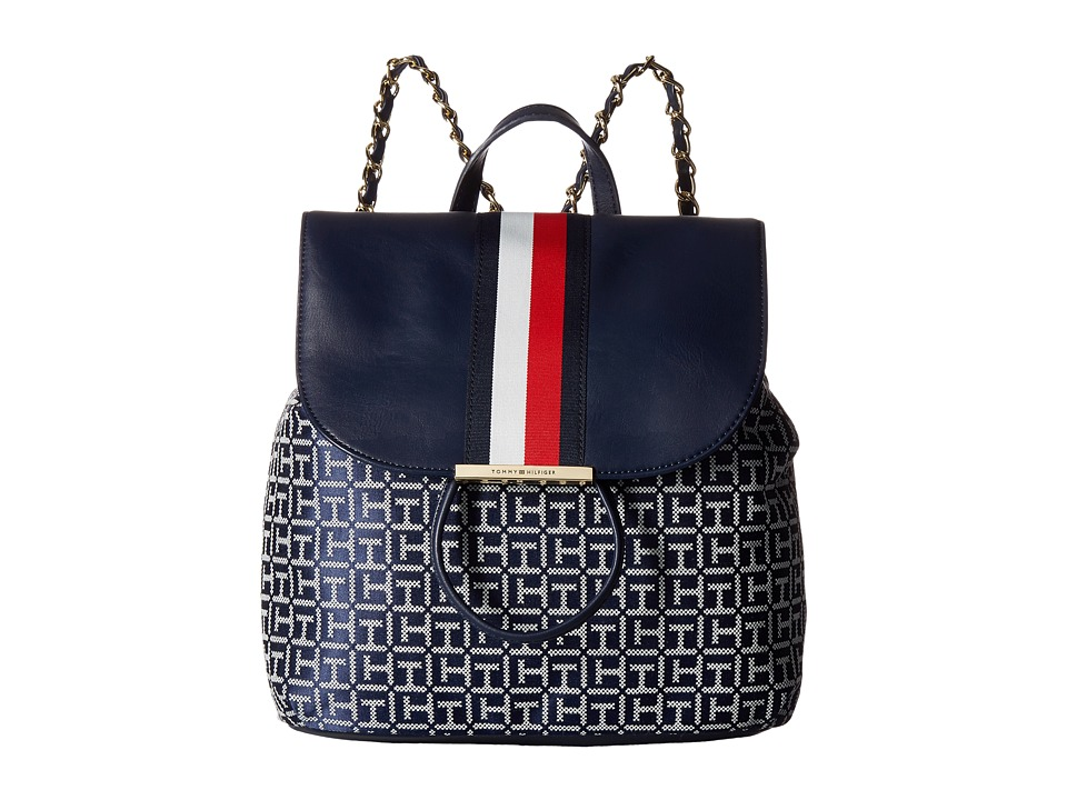 Tommy Hilfiger - Petra Backpack (Navy/White) Backpack Bags