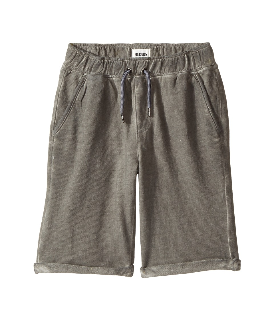 Hudson Kids - Pigment Dye Pull-On Shorts in Silver Cloud (Big Kids) (Silver Cloud) Boy's Shorts