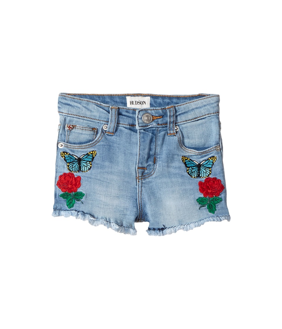 Hudson Kids - Flower Field Shorts in Faded Blue (Toddler/Little Kids) (Faded Blue) Girl's Shorts