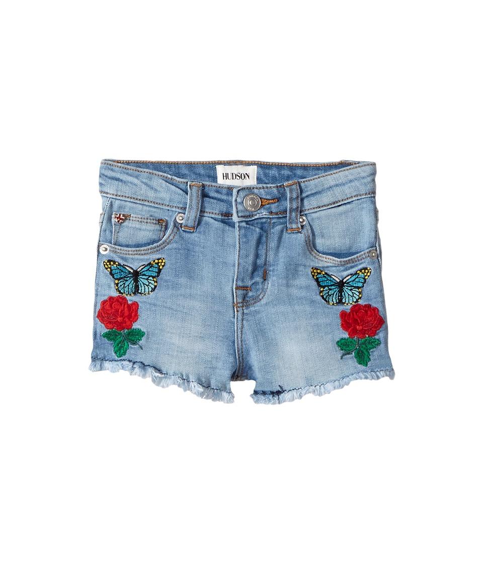 Hudson Kids - Flower Field Shorts in Faded Blue (Toddler/Little Kids) (Faded Blue) Girl's Shorts