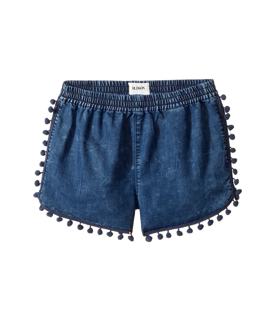 Hudson Kids - Pom Pom Shorts in Rinse (Big Kids) (Rinse) Girl's Shorts