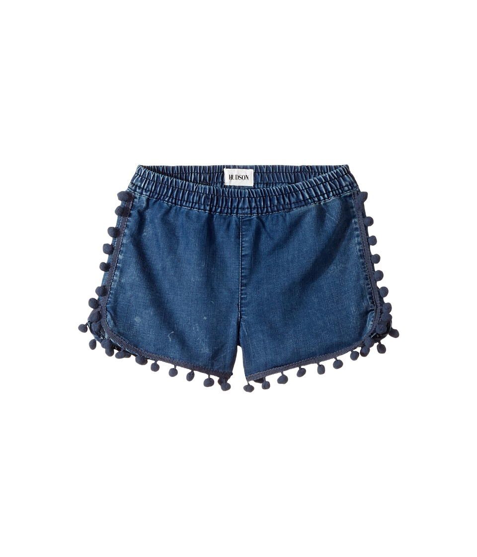 Hudson Kids - Pom Pom Shorts in Rinse (Toddler/Little Kids) (Rinse) Girl's Shorts