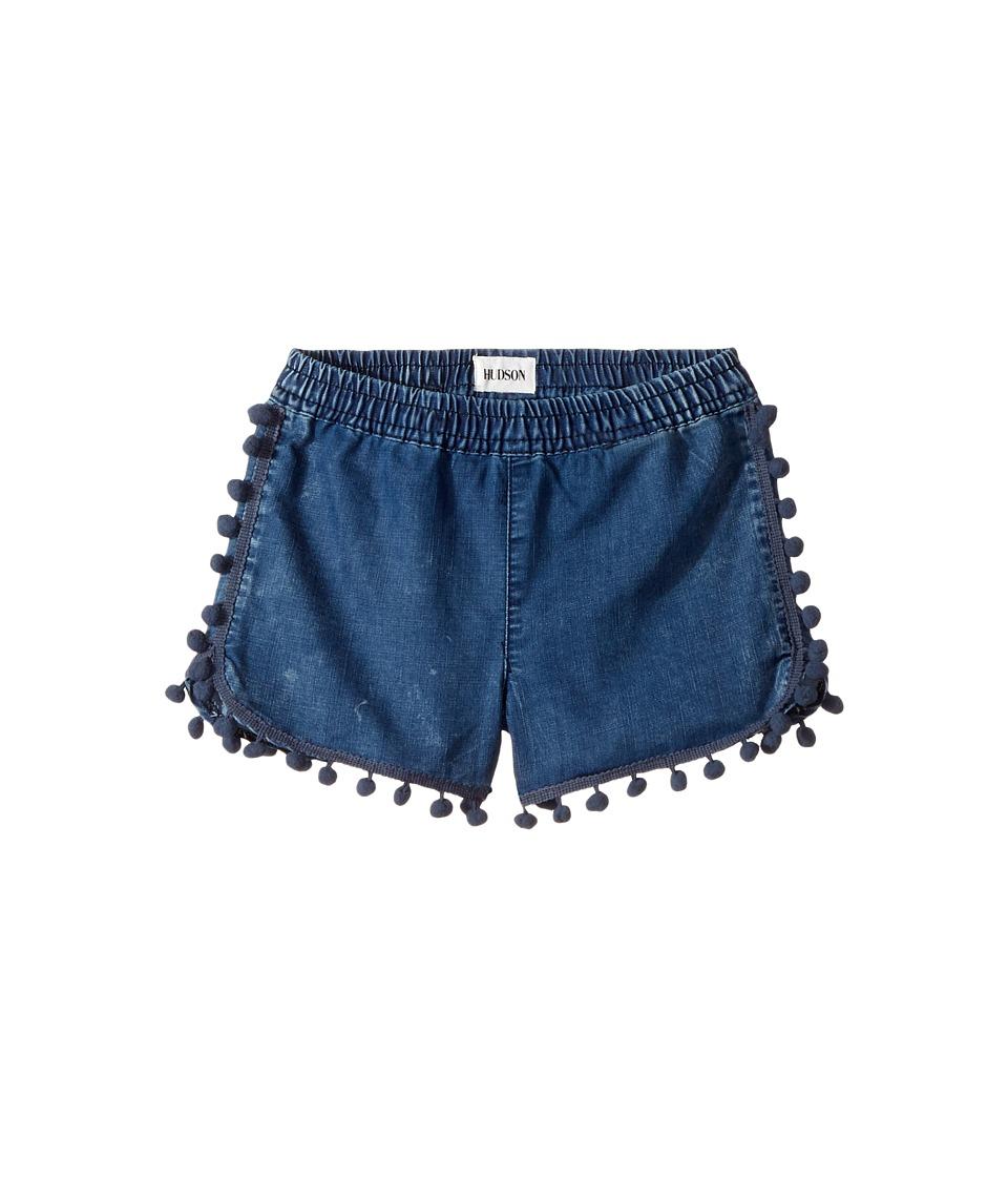 Hudson Kids - Pom Pom Shorts in Rinse (Toddler/Little Kids) (Rinse) Girl's Shorts