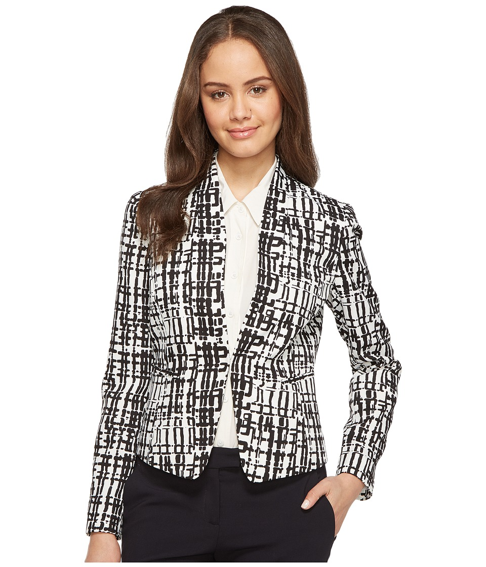 Tahari by ASL - Printed Crepe Jacket (Ivory/Black) Women's Jacket