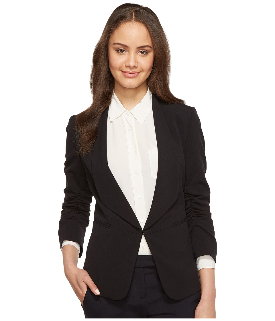 Tahari by ASL - Bistretch Ruched Sleeve Jacket (Black) Women's Jacket