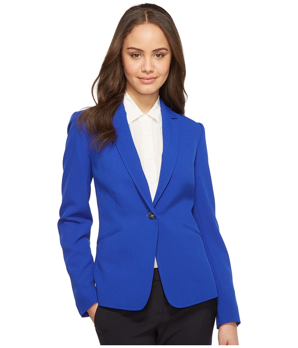 Tahari by ASL - Bistretch Ruched Sleeve Jacket (Pool Blue) Women's Jacket