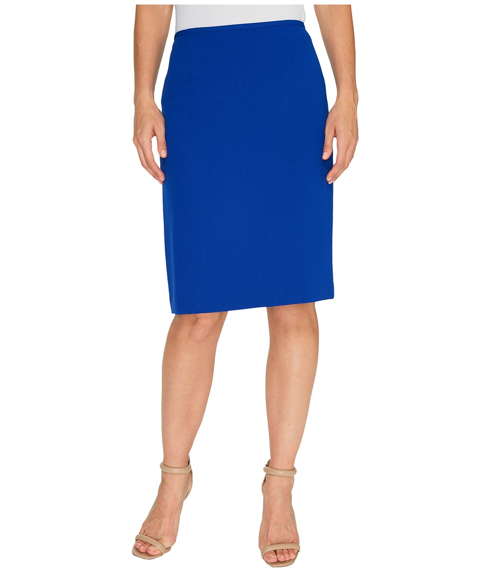 Tahari by ASL - Crepe Pencil Skirt (Pool Blue) Women's Skirt
