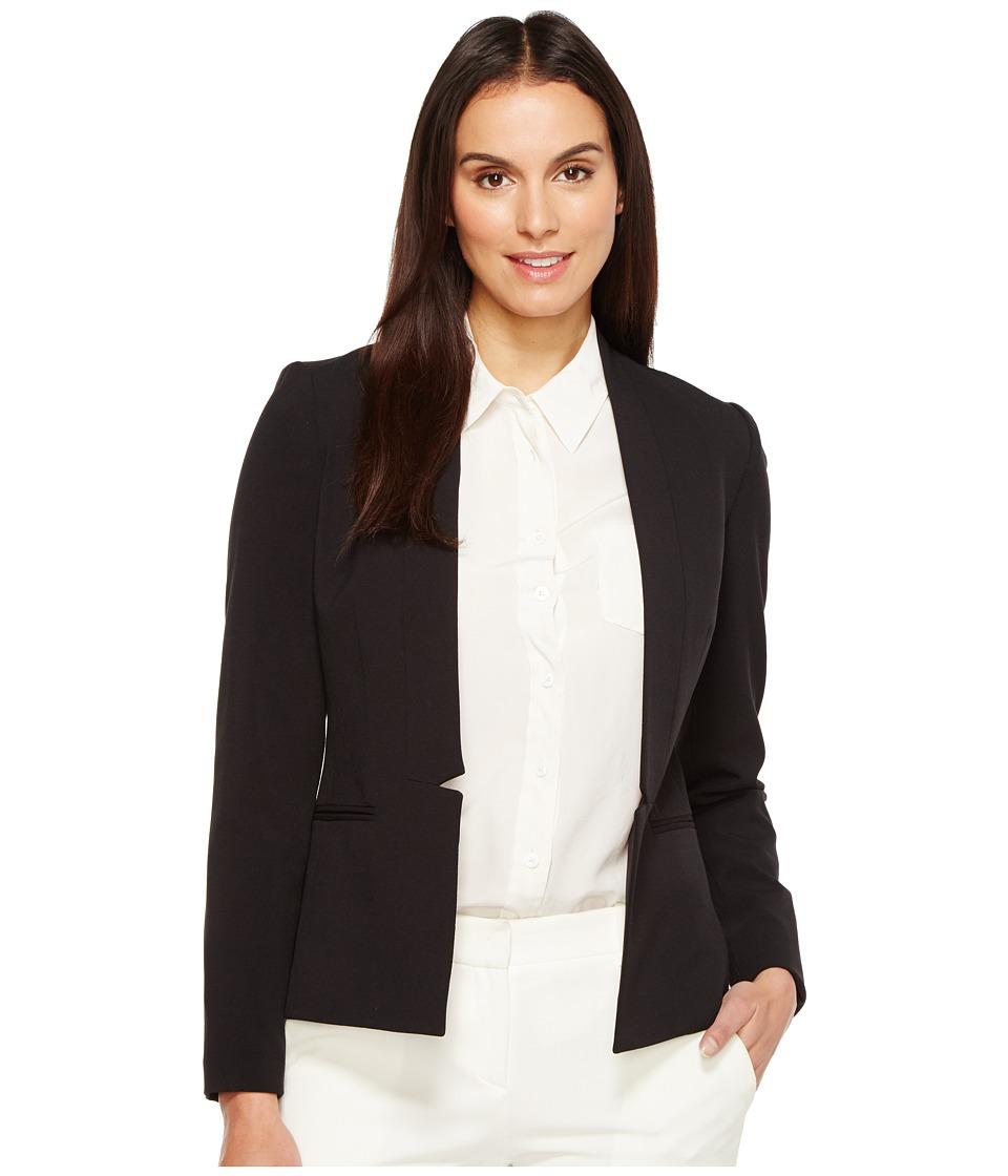 Tahari by ASL - Bistretch Open Knotch Jacket (Black) Women's Jacket