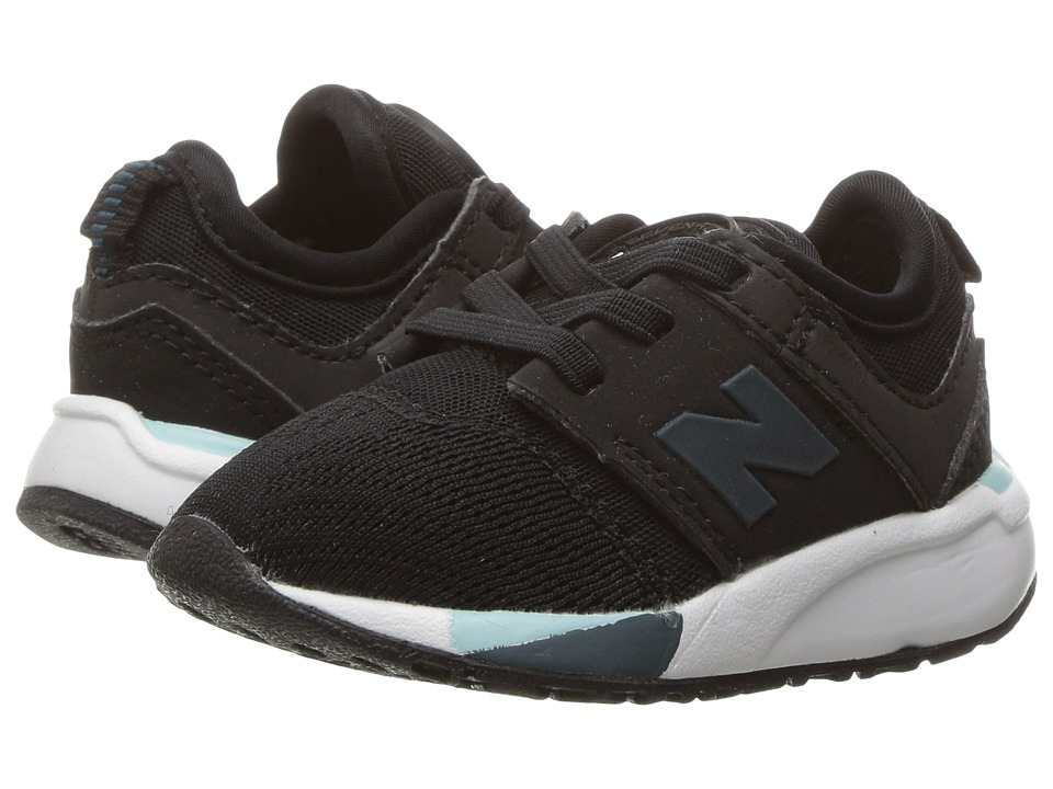 New Balance Kids - KA247 (Infant/Toddler) (Black) Boys Shoes