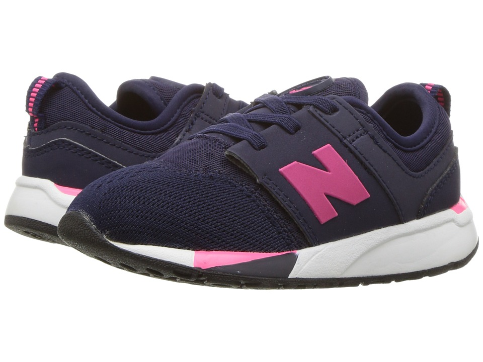 New Balance Kids KA247 (Infant/Toddler) (Navy) Girls Shoes