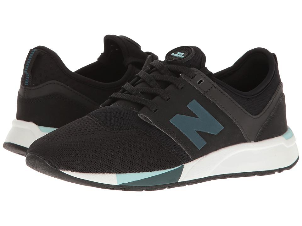 New Balance Kids KL247 (Big Kid) (Black) Boys Shoes