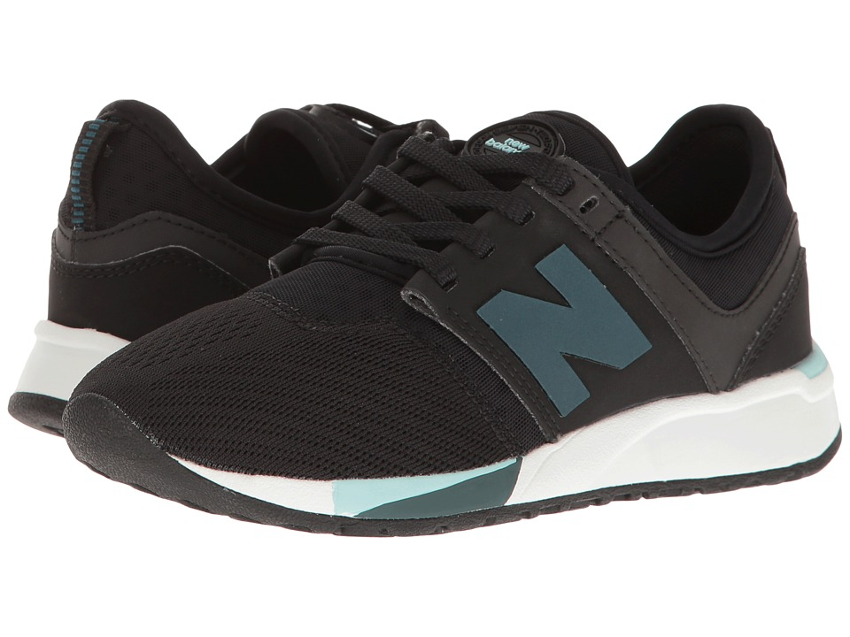 New Balance Kids KL247 (Little Kid) (Black) Boys Shoes