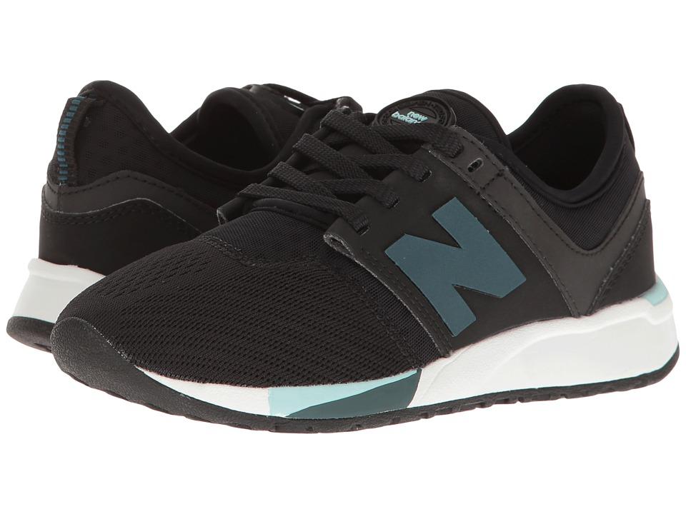 New Balance Kids KL247 (Little Kid) (Black) Boys Shoes