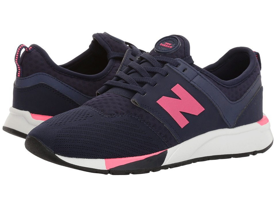 New Balance Kids - KL247 (Big Kid) (Navy) Girls Shoes