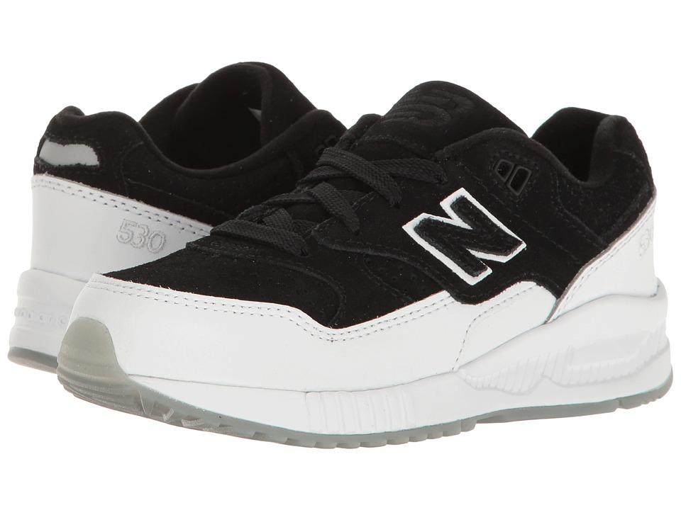 New Balance Kids KL530 (Little Kid) (Black/White) Boys Shoes