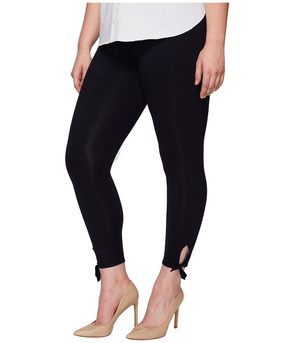 Lysse - Plus Size Tie Cotton Crop (Midnight) Women's Casual Pants