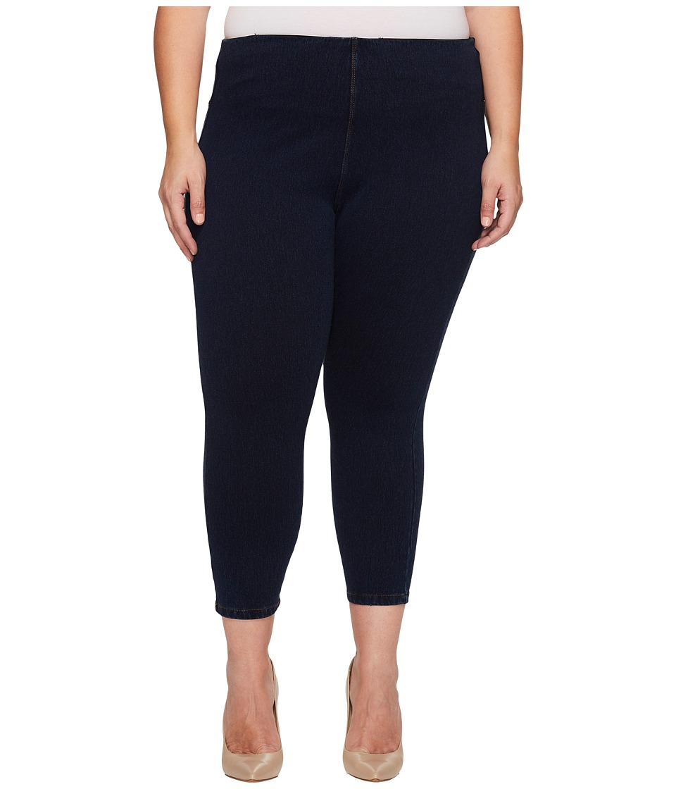 Lysse - Plus Size Toothpick Crop (Indigo) Women's Casual Pants