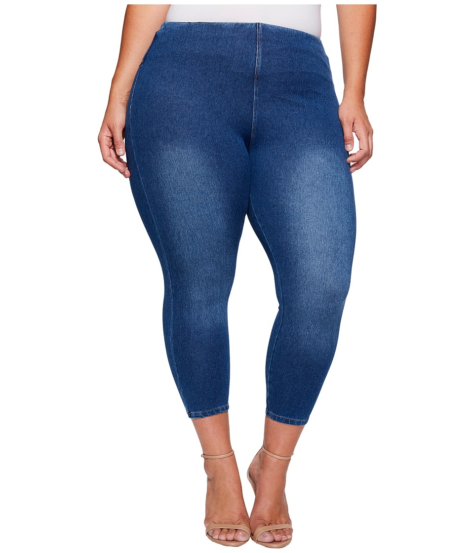 Lysse - Plus Size Toothpick Crop (Mineral Wash) Women's Casual Pants