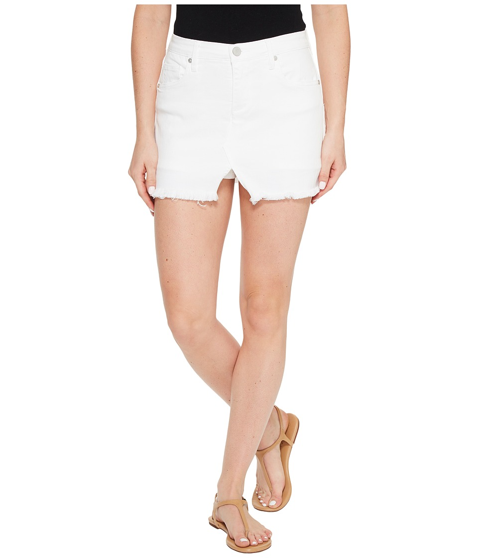 Blank NYC Cut Off Mini Skort in White Lines (White Lines) Women