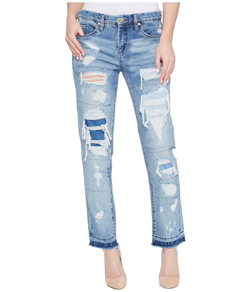 Blank NYC Distressed Denim Boyfriend with Released Hem in Looking Glass (Looking Glass) Women