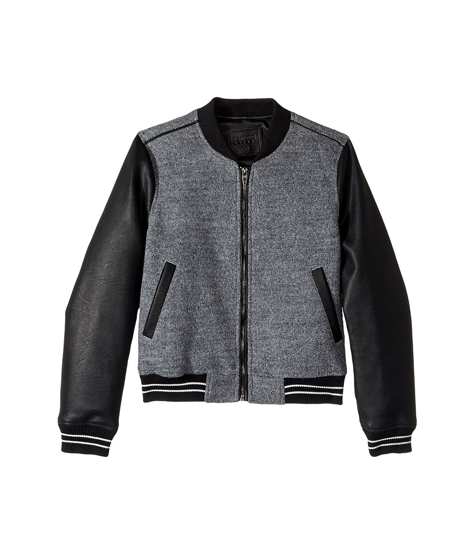 Blank NYC Kids - Wool Bomber in Own The Night (Big Kids) (Own The Night) Girl's Coat