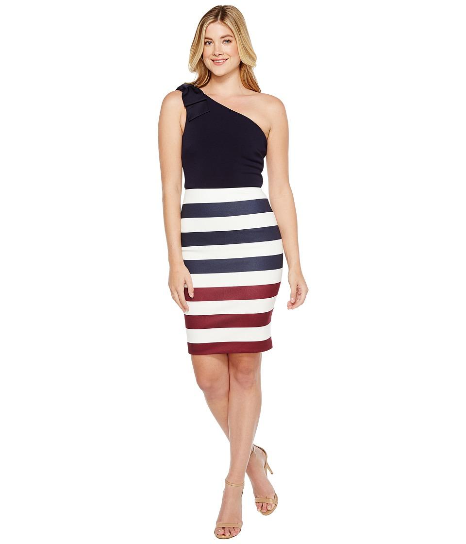Ted Baker Hilila Rowing Stripe One Shoulder Dress (Navy) Women