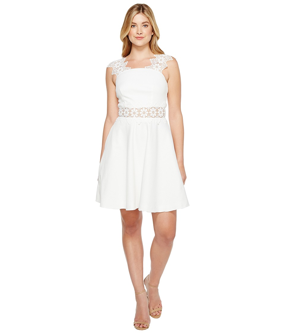 Ted Baker - Monaa A-Line Shift Dress with Lace (White) Women's Dress