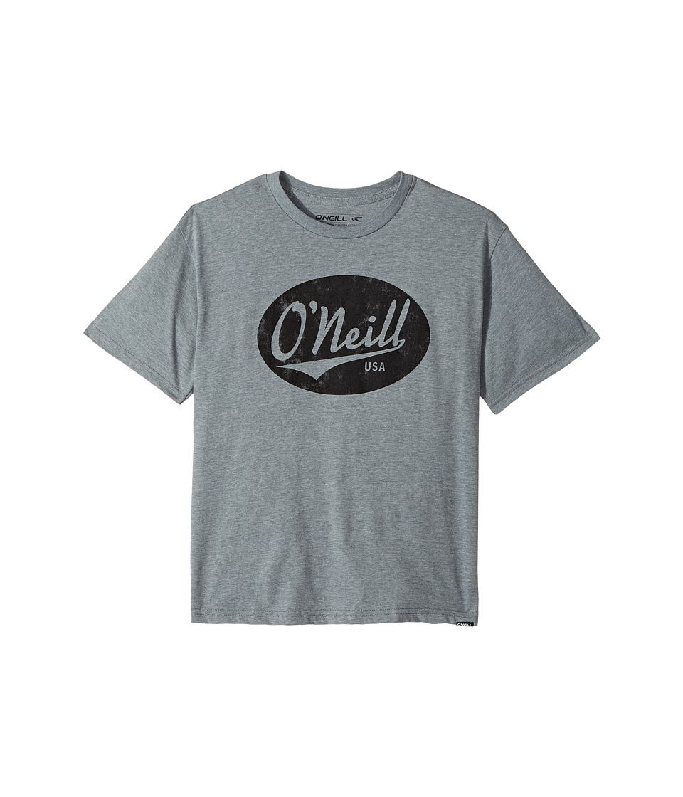 O'Neill Kids - Property Screen Short Sleeve Tee (Big Kids) (Medium Heather Grey) Boy's T Shirt