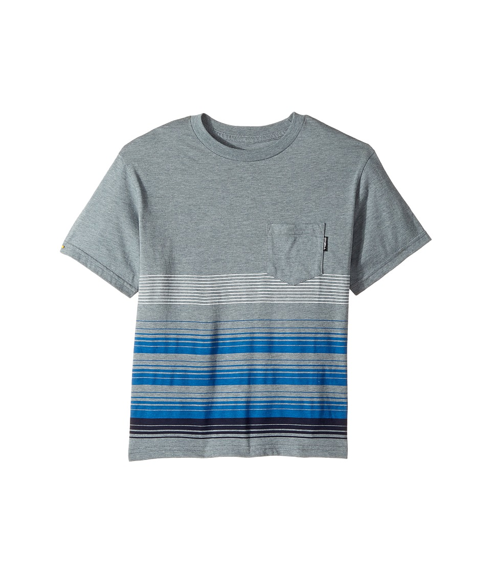 O'Neill Kids - Lennox Screen Short Sleeve Tee (Big Kids) (Medium Heather Grey) Boy's T Shirt