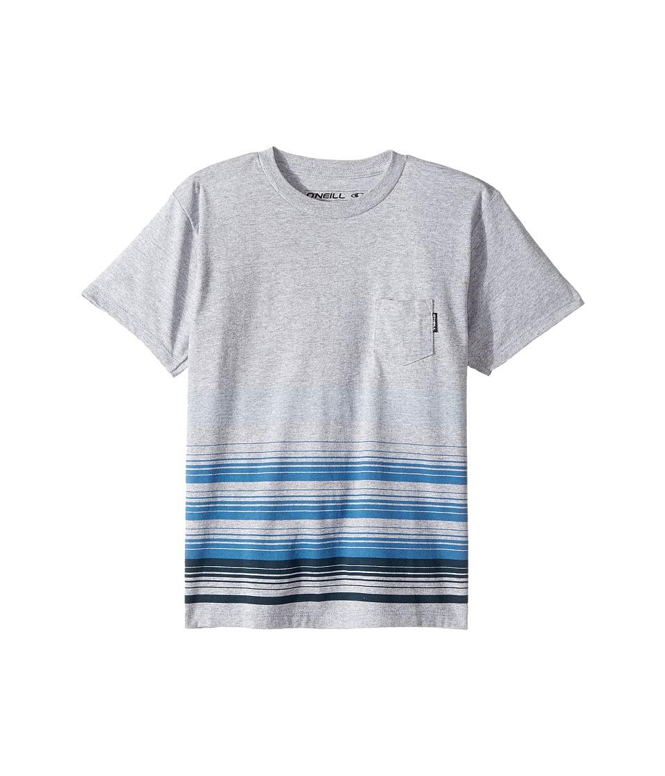 O'Neill Kids - Lennox Screen Short Sleeve Tee (Toddler/Little Kids) (Medium Heather Grey) Boy's T Shirt